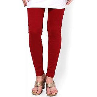 Maroon Woolen Legging - Aashish Fabrics