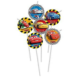 Cars Drinking Straws