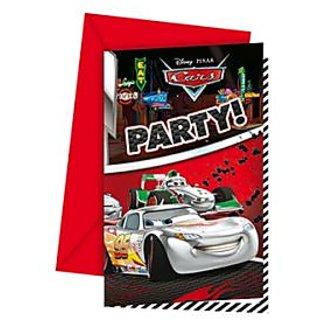 Cars Silver Edition Invitations  Envelopes