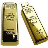 Gold Bar Shaped 8GB USB Flash Drive Memory Stick Pen Drive