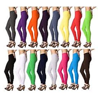ASSORTED COTTON LYCRA LEGGINGS ( SET OF 8)