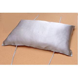 100 Silk Fashion Soft Pillow Cover - Silver Gray
