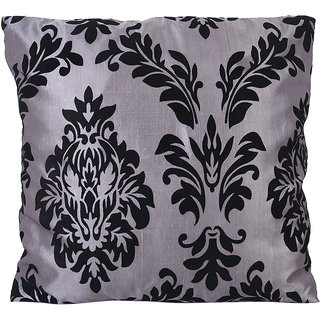 Flower Flocking Throw Pillow Case