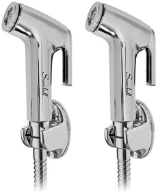 Snowbell Continental Health Faucet With 1 Meter Flexible Tube And Wall Hook - Buy 1Get 1