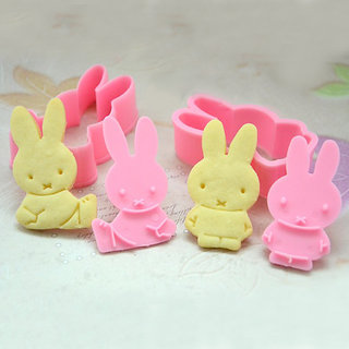 Rabbit Shape Fondant Cake Cutter Plunger Cookie Cutter