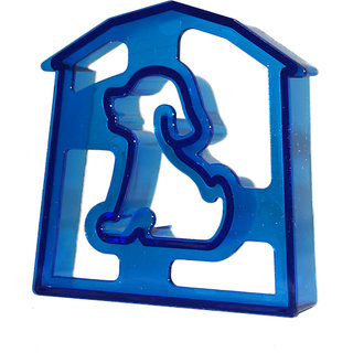 Dog Shaped Sandwich Cutter Cookie Biscuit Cutter - Blue