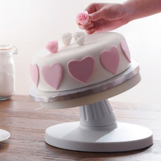 26Cm Revolving Rotating Fondant Cake Platform Icing Decorating Turntable