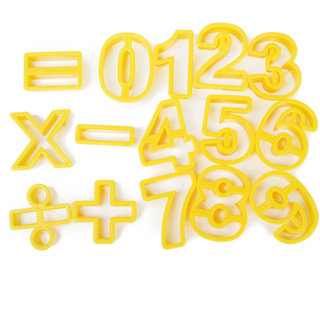 15pcs DIY Number Symbol Fondant Icing Cutters Cookie Cut Out Craft Tools