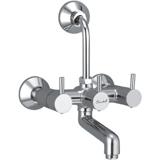Snowbell Wall Mixer 2 in 1 Flora Brass Chrome Plated
