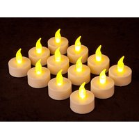 Diwali Decoration Battery Operated LED Tealight Candles Pack Of 12
