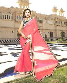 Vardhini Black & Khaki Khadi Lace Saree With Blouse