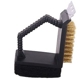 Three-in-One BBQ Grill Cleaner Shovel Sponge Cleaning Brush