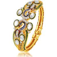 Sukkhi Amazing Peacock Gold Plated Kundan Kada