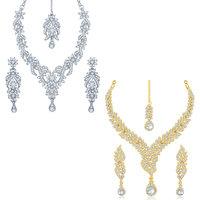 Sukkhi Graceful 2 Pieces Necklace Set Combo