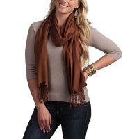 Anuze Fashions Viscose Solid Stole  Shawls (BROWN SHAWLS XIORTA)