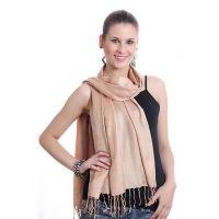 Anuze Fashions Viscose Solid Stole  Shawls (KHAKI SHAWLS KHXXIPLE)