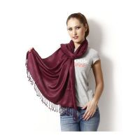 Anuze Fashions Viscose Solid Stole  Shawls (MAROON SHAWLS MAYXFPK)