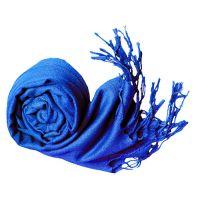 Anuze Fashions Viscose Solid Stole  Shawls (BLUE BLU098-BLXXE1)