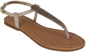 Flora Casual Wear Gold Sandal