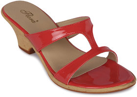 Flora New Casual Wear Coral Wedges