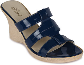 Flora Casual Wear Blue Wedges