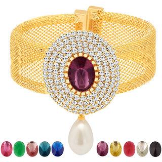 Sukkhi Golden Alloy Gold Plated Bajuband/Armlet For Women