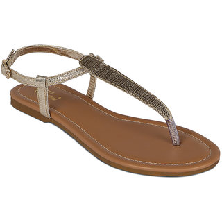 Flora Casual Wear Gold Sandal