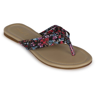 Flora Casual Wear Red Flat Slipper