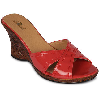 ffa9e5402c3 Buy Flora Casual Wear Coral Wedges Online   ₹999 from ShopClues