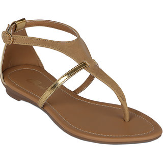 Flora New Casual Wear Cream Sandals