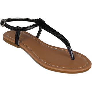 Flora Latest Casual Wear Black Sandal