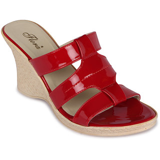 Flora Casual Wear Red Wedges