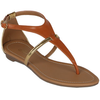 Flora Casual Wear Tan Sandal