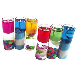 Diwali Glass Candle For Home Decorations - Pack Of 6