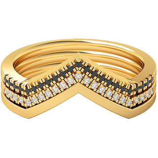 Real Diamonds and Hallmarked 18kt Yellow Gold Ring