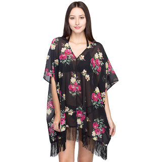 Oxolloxo Womens Multicolour Beachwear Kaftan