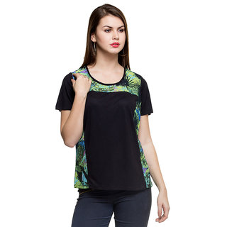 Oxolloxo Showy Womens Black Top
