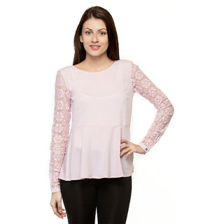 Oxolloxo Elite Womens pink mesh top