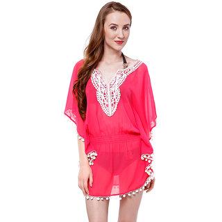 Oxolloxo Women Pink Beachwear Coverup