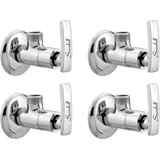 Snowbell Angle Cock Artize Brass Chrome Plated - Set of 4