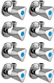 Snowbell Angle Cock Acura Brass Chrome Plated - Set of 8