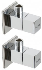 Snowbell Angle Cock Square Brass Chrome Plated - Buy 1Get 1