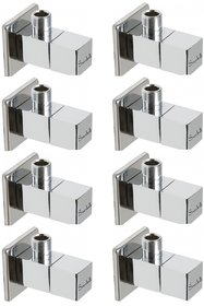 Snowbell Angle Cock Square Brass Chrome Plated - Set of 8