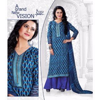 Krishna glace cotton suit