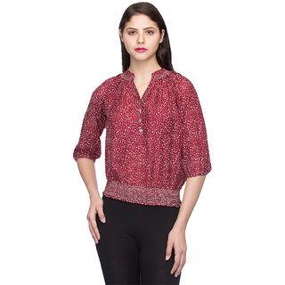 Oxolloxo Fashionable Women red top