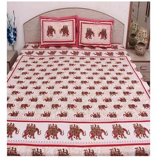 S S Mart Multicolour Cotton Double Bedsheet