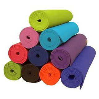 IMPORTED YOGA MAT 6 MM BLUE COLOR wh Pre Floor covering for long life