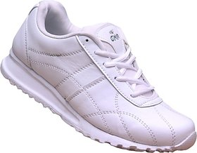 Gnr Easywalk White Running Shoes For Mens