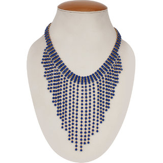 Shopping Villa Western style blue square-chits necklace