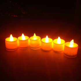 VRCT Battery Operated Led Candle  (Pack of 6)